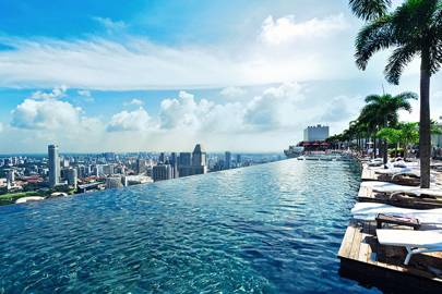 1 . SWIM IN AN INSANELY HIGH POOL AT MARINA BAY SANDS