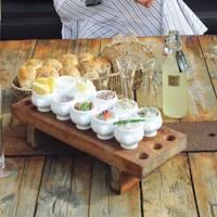 Herring platter at Salt & Sill