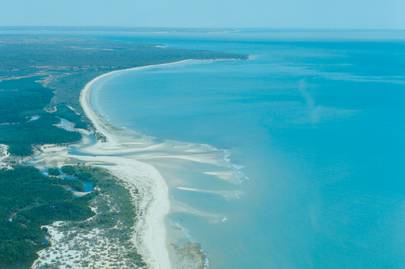 A bird's-eye view of the coast near Anjajavy