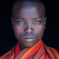 A woman from the Samburu tribe, Kenya