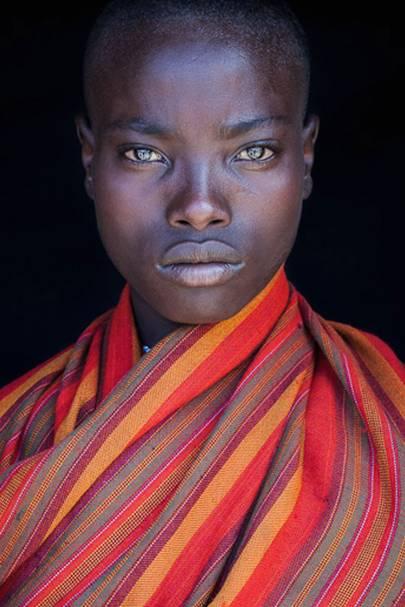 A woman from the Samburu tribe, Kenya