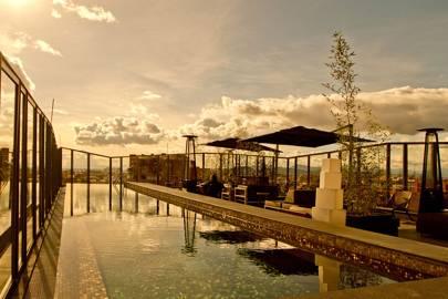 Rooftop pool at B.O.G Hotel, Bogotá