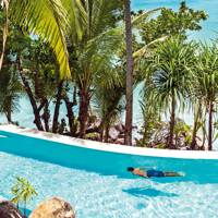 The swimming pool on North Island in the Seychelles 3edb7b4aa