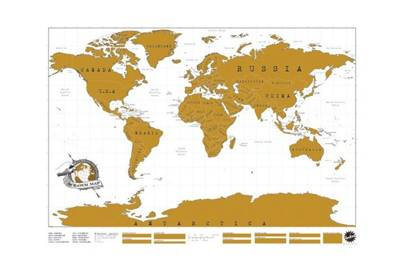 Scratch map of the world