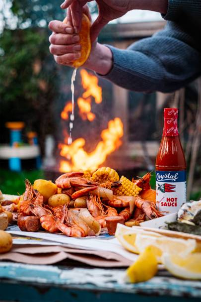 Get messy with a Southern shrimp boil