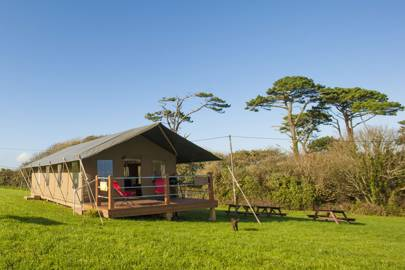 Lamorna Glamping Safari Tents, Cornwall
