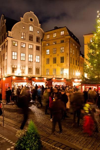 GREAT SQUARE CHRISTMAS MARKET, STOCKHOLM, SWEDEN