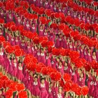 Girls with magnolias at the Arirang Games