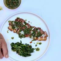 Make The Newt in Somerset's wild garlic chimichurri