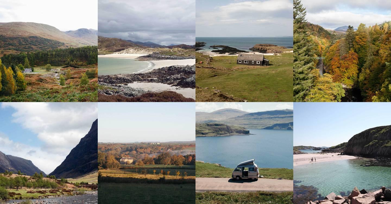 Scenic road trips in Scotland