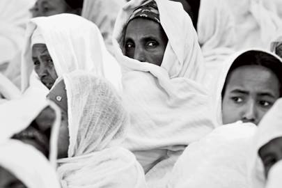At church in Ethiopia