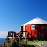 Treebones glamping yurts, Big Sur, California