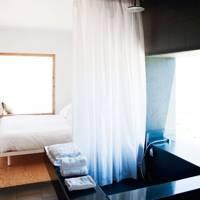 Hotel Aire De Bardenas is set amongst dusty plains