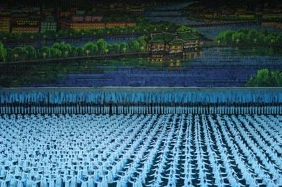 The Pyongyang River depicted at the Arirang Games