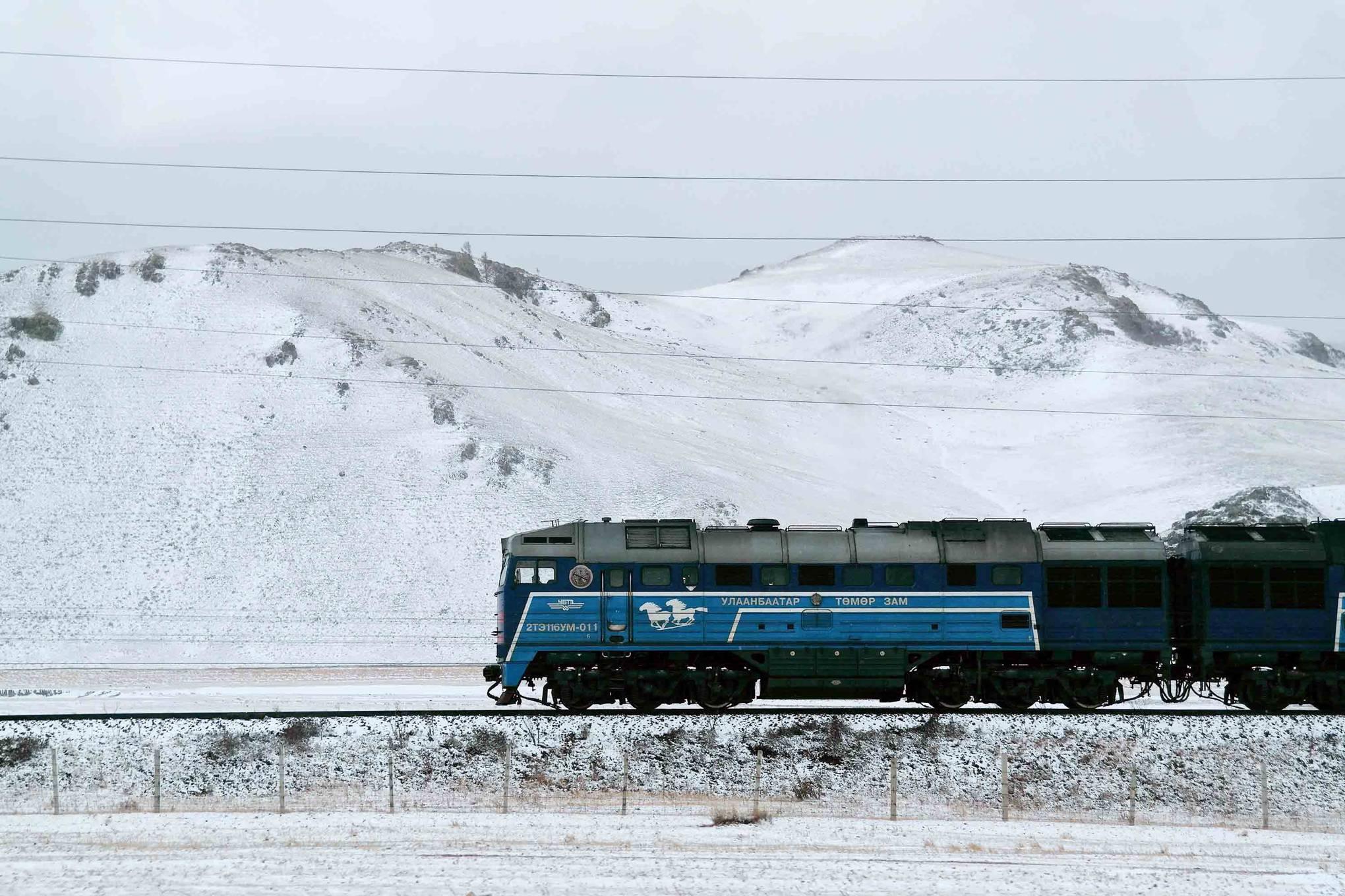 Katie Glass on the Trans-Mongolian railway