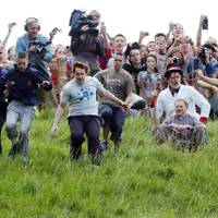 Cheese-rolling in the Cotswolds