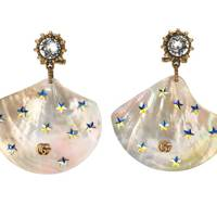 Gucci shell earrings