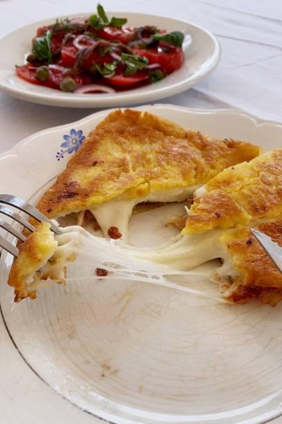 Mozzarella in carrozza from Italy