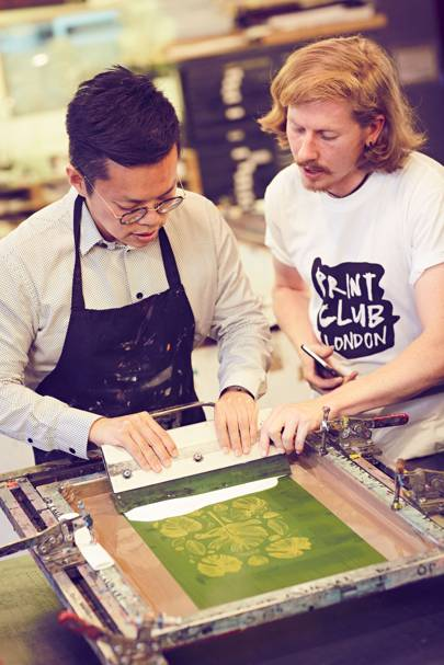 Screen printing at Print Club London