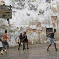 Watching sports in Havana