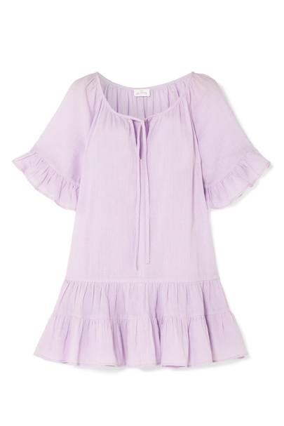 4. Pour Les Femmes Ruffled Cotton-voile Nightdress