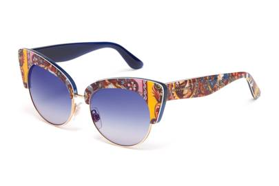 1ca252c3abf Orange and blue cat-eye frames