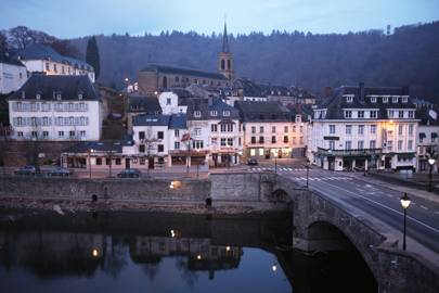 Dinner in Bouillon, Belgium