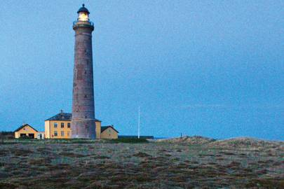 The grey lighthouse