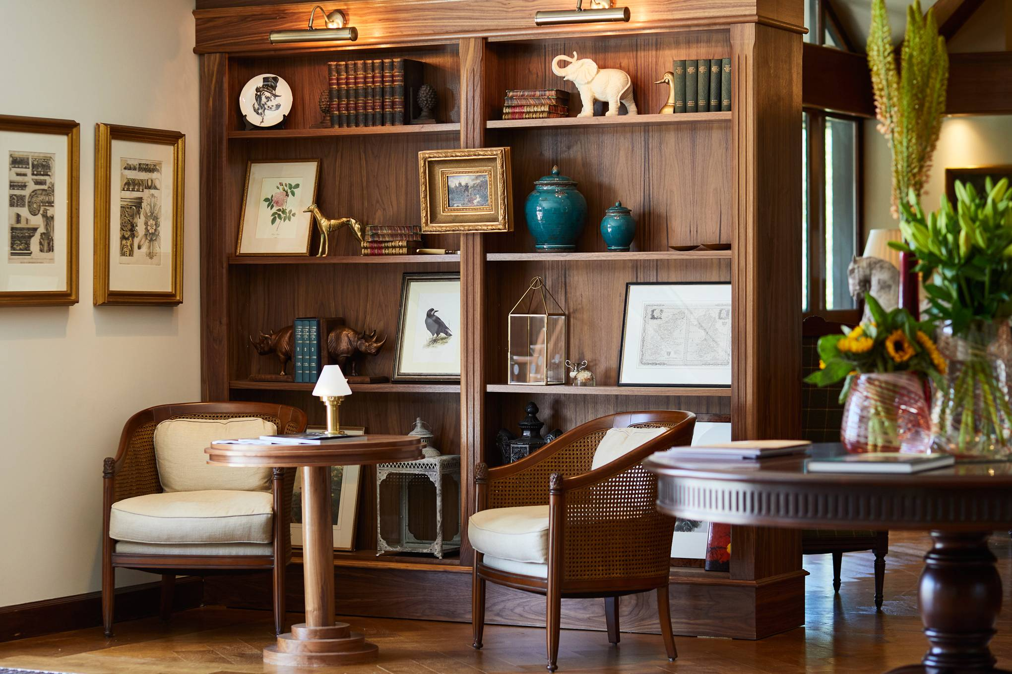 Inside Holland & Holland's countryside lodge