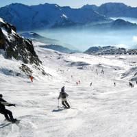 High-mileage skiers: Vaujany