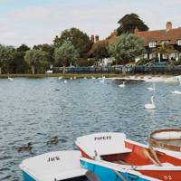 Boating lake in Thorpeness