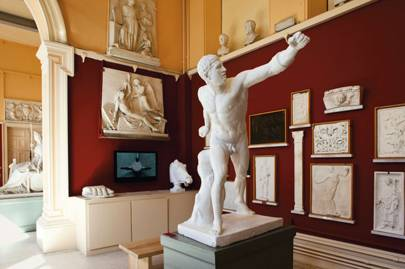 The sculpture room at the Crawford Art Gallery