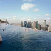 Marina Bay Sands rooftop infinity pool, Singapore