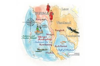 Travel information for the Mergui Archipelago, Burma