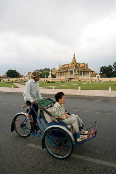 Cyclo taxi in Phnom Penh