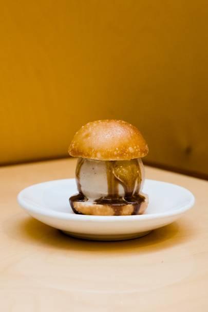 Fried Horlicks ice-cream bun at BAO