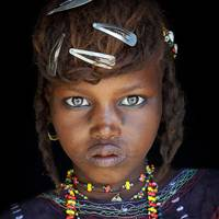 A girl of the Wodaabe tribe, Niger