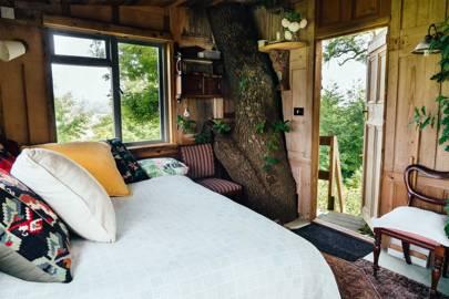 Rustic treehouse on stilts, Elham, Kent