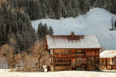 A chalet in the Swiss mountains