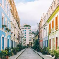 Rue Crémieux, the most colourful street in Paris