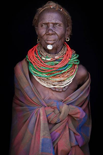 A woman from the Nyangatom tribe, Ethiopia