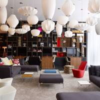Lounge area at CitizenM Bankside