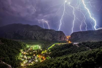 Lightning storm, Croatia