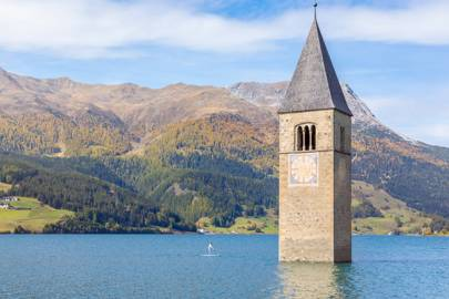 Lake Reschen Bell Tower, South Tyrol, Italy