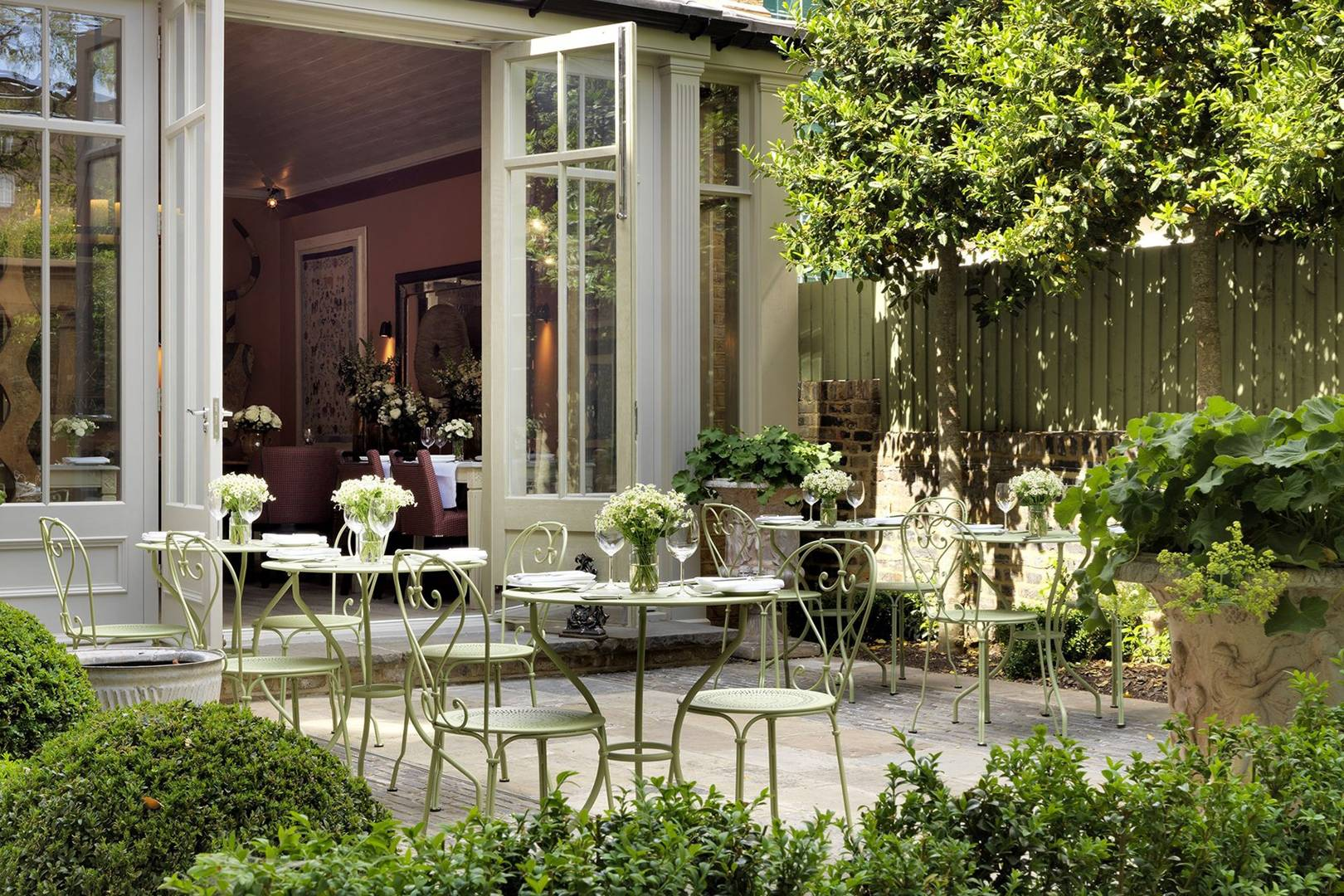 London restaurants with gardens cn traveller