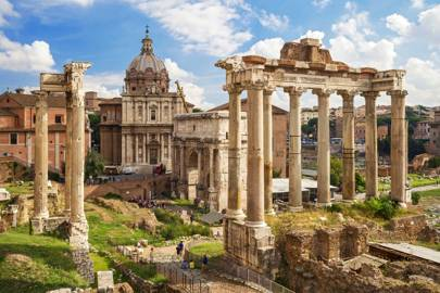 THE TEMPLE OF SATURN AT THE ROMAN FORUM