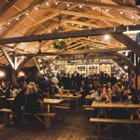 Frolic at Flat Iron Square's Apres Ski Lodge