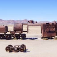 Great Train Graveyard, Uyuni, Bolivia