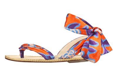 2. Christian Louboutin satin sandals