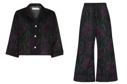 Desmond & Dempsey pattern pyjamas, top £90, bottoms £105